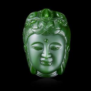 jade Hetian pendentif Guanyin, les hommes et les femmes Guanyin, pendentif en jade, en jade, Pendentif Guanyin
