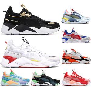 PUMA Çorap RS-X Reinvention beyaz mavi Erkek Kadın Ayakkabı Trophy Transformers Yüksek Kalite Nefes Spor Spor ayakkabılar Eğitmenler 36-45 Running With