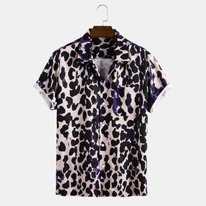 E-2020 Baihui camisas Europea y nuevo estilo americano hombres de las camisas casuales cortos ocasionales del verano impresión manga de los hombres T0522
