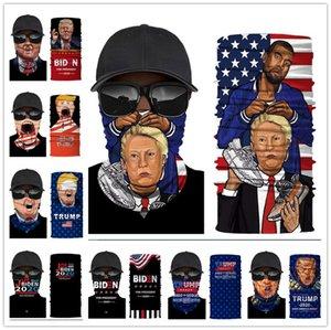 Джо Байден Спорт шарф 2020 Дональд Трамп Bandana Взрослые Спортивные Маски Велоспорт Байкер пробки шарфов Американский флаг оголовье Новый E92304