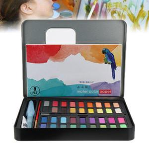 Оптовая Профессиональный 36 Акварельные краски набор кистей Artist крася ручки цвет воды
