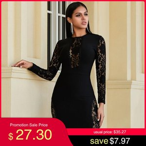 Adyce New Spring Black Lace Bandage Dress Women Hot Sexy Hollow Out Long Sleeve Club Dress Elegant Celebrity Evening Party