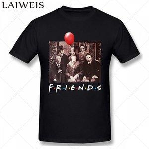 amis personnages du film TV d'horreur effrayant hommes T-shirt Halloween mode d'été imprimé Casual T-shirt