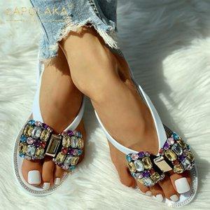 Kristal INS Sıcak Kapak On Lapolaka 2020 Yeni Moda Toptan Rahat Ayakkabı Kadınlar Terlik Kadın Kayma Kadın Ayakkabı Floplar