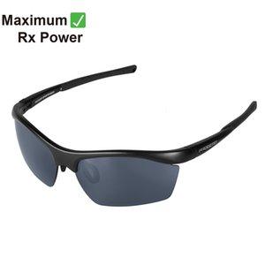 PROGEAR Sportshades Dash2 Spalte 1 Customized Rx-able Schwarz UV400 Sports Laufende Männer Myopie Brillen Sonnenbrillen