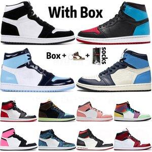air jordan retro 1 1s 2020 New Quality SatinJordan Mens TWIST tênis de basquete 1 High Obsidian UNC Mid Chicago Milan JUMPMAN Mulheres Trainers Sneakers 36-46