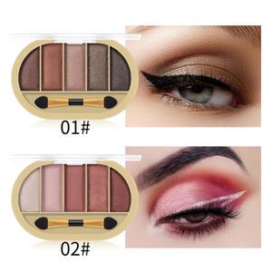 MISS ROSE 5 Color Matte Shiny Eyeshadow Palette Waterproof Shimmer Eyeshadow Cosmetics Multicolor Palette