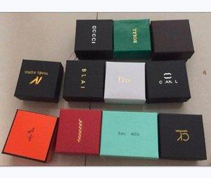 Новое поступление горячей продажи кольца ожерелья серьги коробки упаковочной коробки ювелирных изделий Упаковка Малый квадрат Box Малый модельера окно