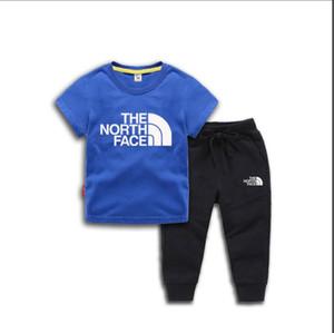 고급 디자이너 패션 아기 어린이 만화 패션 캐주얼 투피스 정장 의류 유아 소년 소녀 의상 스포츠웨어 운동복을 설정합니다