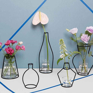Shelf Decoration Bardian Iron Soilless Creative Planter Rack Organizer Flower Pots Home Accessories Vase sweet07 gzHxc