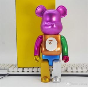 Newset 400% 28CM Bearbrick Iludir cola O estilo tubarão de figuras Brinquedos Para Collectors Be @ rbrick trabalho de arte dom decorações modelo