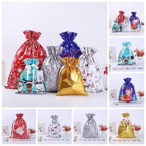 Hot-sale Home Christmas Gift Sacks Drawstring Bag Santa Sack Bags gift bundle pocket Gift Storage Bag YY03
