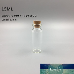 15ML 22X65X12MM Small Mini Clear Glass Bottles Jars with Cork Stoppers  Message Weddings Wish Jewelry Party Favors