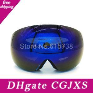 الأزرق عدسة تزلج نظارات نظارات موتوكروس الدراجات النارية عدسة مزدوجة UV400 مكافحة -Fog حملق التزلج على الجليد نظارات التزلج جوجل