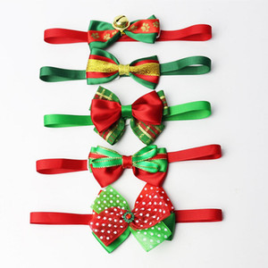 Adjustable Pet Dog Bow Tie Neck Accessory For Christmas Pet Collars Necklace Collar Puppy Bright Color Pet Bow Mix Color HH9-3260