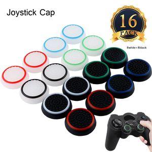 16pcs contrôleur silicone noctilucents Thumb Caps Grip Covers joystick pour PS2 PS3 PS4, Xbox 360 Xbox One Caps Analog Stick remplacement joypa