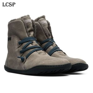 LCSP 2020 Winter Women Warm Snow Boots Female Classic Daily Casual Lace up Basic Ankle Boots Shoes West Flats Snow