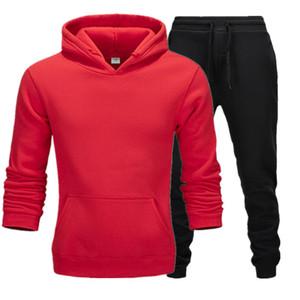 2020 tasarımcı yeni gündelik spor takım elbise kazak Yüksek kaliteli erkek spor giyim spor erkekler koşu giyim kapüşonlu kazak