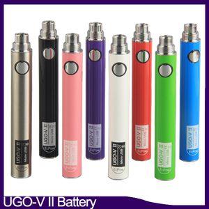 Orijinal UGO V II-V-2 650 900mAh EVOD 510 pil mikro USB şarj buharlaştırıcılar e CIGS O kalem Vape pil 0.270.001-1 ego