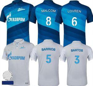 20 21 FC Zenit St. Petersburg maison maillot de football loin MALCOLM 2020 2021 bleu Lovren SANTOS BARRIOS football shirt de foot Maillots