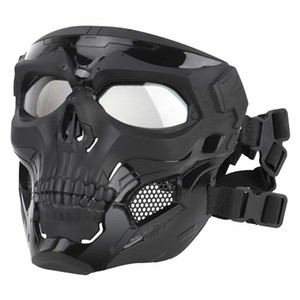 Skull Tactical Airsoft Mask Paintball CS Military Protective Full Face For Fast Helmet