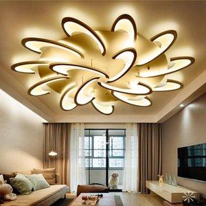 Sıva Üstü Modern LED Tavan Işıklar Avize Salon Yatak odası Tavan Lambası Avizeler Akrilik Abajur Lamba Aydınlatma