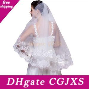 Popular Mulheres Cheap S Elegant Design Dois Layers Marfim Bridcage nupciais Casamento Véus Decoração Apliques Venda