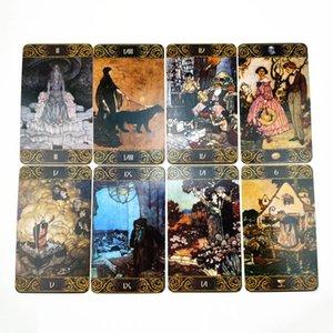 Cartão Tabela 78 engraçado do Oracle Tarot Version Jogos Inglês Destino Cartões de Tarot Misterioso Folha Cartões Board Game Adivinhação Dulac bbymSN
