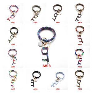 Приграничное новый браслет против Эпидемический Брелок PU Кожаный браслет Бесконтактный Акриловая Брелок для открывания двери BWF1501
