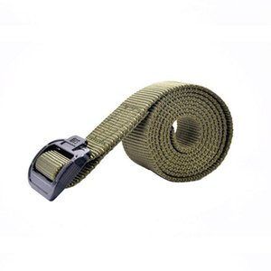 Men Waist Support Tactical Belt Adjustable Nylon Fabric Flexible Front Buckle