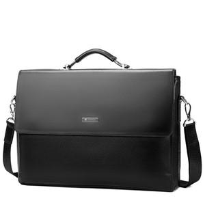 2020 Fashion Business Men's Briefcase Notebook Computer Handbag Handbag Shoulder Bag Men's Office Messenger Bag PU 14 Inches 40