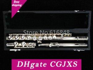 Muramatsu Flute 1957 de instrumentos musicales 16 teclas agujeros cerrado cuproníquel plateado flauta nuevo C Tune flauta envío con el caso