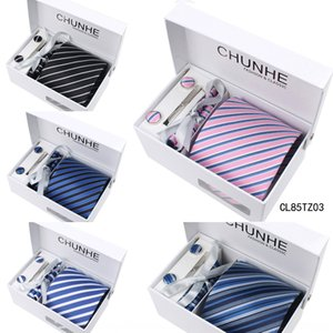 polyester formal suit business suit gift striped Chunhe Formal wear casual Chunhe tie men's tie six-piece fYdHg