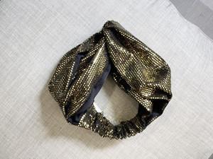 Nouveau noeud Bandanas Turban Bandeaux Hiver chaud tricot Turban Cap bandeau élastique Croix femmes bande de cheveux Echarpes Cheveux Accessoires