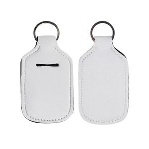 Sublimation Neopren Sanitizer Halter nachfüllbare Flaschen Schlüsselanhänger Halter Schlüsselhalter 30ml Mehrwegflaschen leere Plastikflaschen