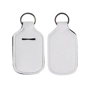 Garrafas Keychain Sanitizer Titular recarregáveis Sublimation Titular 30ml Neoprene Key Plastic garrafas reutilizáveis titulares vazios Kptpm