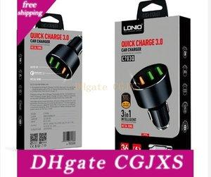 Ldnio Автомобильное зарядное устройство C703q 36W Dual USB быстрое зарядное устройство Qc 3 +0,0 Автомобильное зарядное устройство для Samsung Huawei быстрой зарядки Quick Chargeing автомобилей -Charger