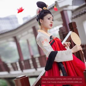 Chinesa de fadas estilo peito de comprimento roupas saia de verão do aXwn1 Hanfu Mulheres diário melhorou fresco estilo e saia longa antiga Costume antigo