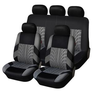 9 pçs / definir tampas de assento de carro do bordado ajustadas ajustadas a maioria dos carros cobre com pneu styling auto interior decoração de interiores