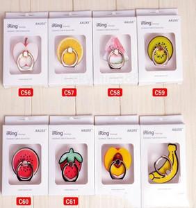 Universal-Creative-Telefon Handy-Plus-Ring Banana Halterungen für Samsung Mobile Strawberry Buckle 7-Halter Telefon Fruit Support Stand Iphone qkffot