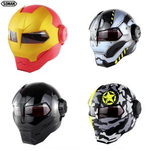 Iron Soman SM515 half skeleton ghost claw Iron Soman Transformers motorcycle SM515 Transformers motorcycle helmet half helmet skeleton ghost