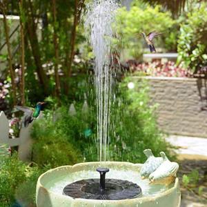 Mini Solarbrunnen Garten Schwimmbad Teich schwimmen Wasserbrunnen im Freien Vogel-Bad Gartenbonsai Rockery-Dekor-Brunnen