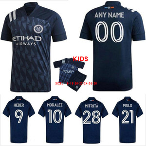 2020 2021 New York City FC Soccer Jerseys Moralez Heber Lampard Pirlo 20 21 Football Herren und Kinderhemden