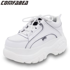 COMFABEA Frauen 2020 beiläufige Plattform Turnschuhe Frühling Schuhe Frauen starke alleinige Creepers Sport-Schuh