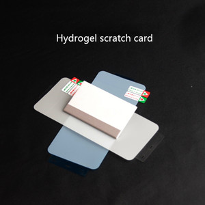 Suitable for Huawei mate40pro Samsung Galaxy S10 Jelly Full Glue Hydrogel Film Scratch Card Mobile Phone Screen Protector Tool