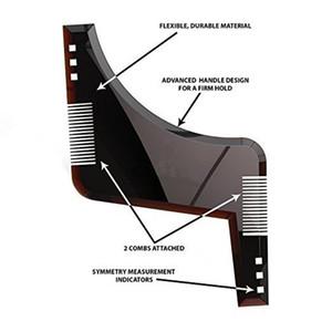 New Arrivals Men Beard Shaping Styling Template Comb Transparent Men's Beards Combs Beauty Tool for Hair Beard Trim Templates 0077