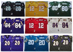 Retro 84 Randy Moss Jersey 12 Tom Brady 20 Barry Sanders 20 Brian Dawkins 80 Wayne Chrebet 20 Ed Reed 12 Doug Williams MN Football Jerseys