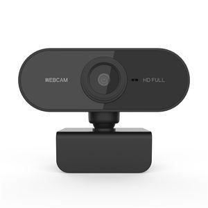 1080P HD Webcam mini computadora PC WebCamera con micrófono Cámaras rotativo para transmisión en vivo videollamadas Conferencia de Trabajo JK2008XB