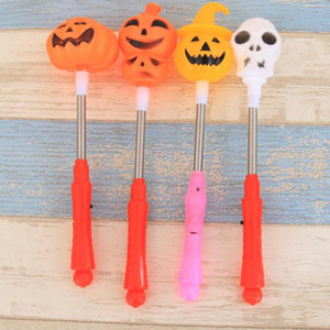 LED Pumpkin Shake Stick Halloween Flash Decor Light Up Ghost witch Magic Wands Glow Sticks Party Favor Prize fancy dress props LX3354