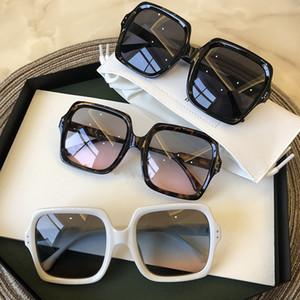 Güneş Gözlüğü Kare Kadınlar Lüks Gözlük Bayan Sunglass Kadın 2021 Degrade Pembe Mavi Lens Erkekler Gözlükler